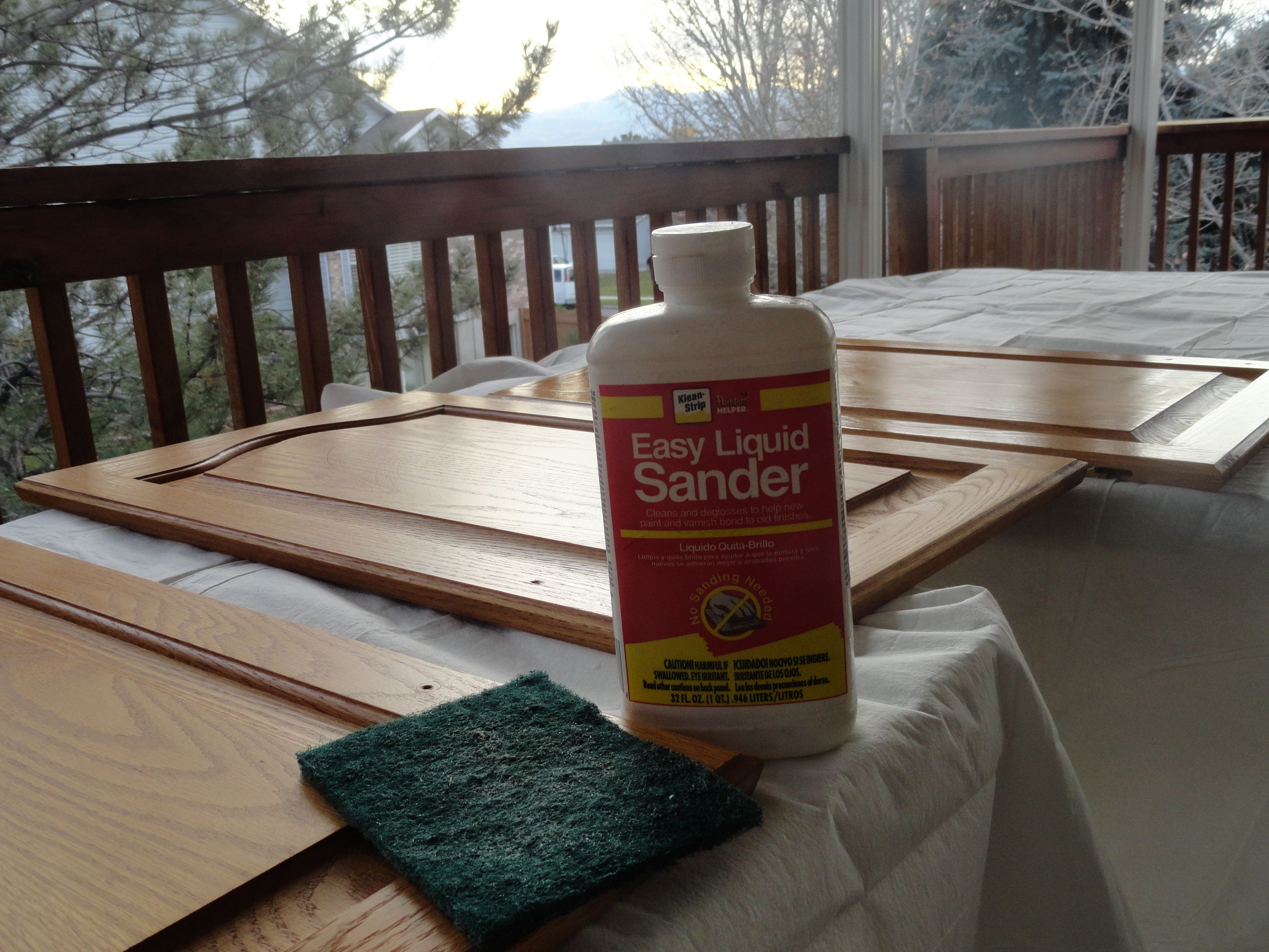 liquid sander is the best thing to remove varnish & grime