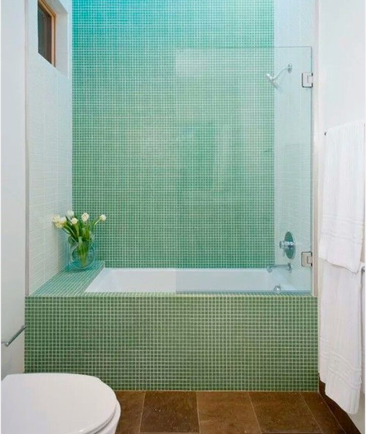 Gr Nne Fliser Green Tile Bathroomsmodern Bathroomsmall