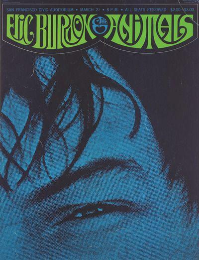 Eric Burdon & The Animals, March 21, 1967 at The San Francisco Civic Auditorium.