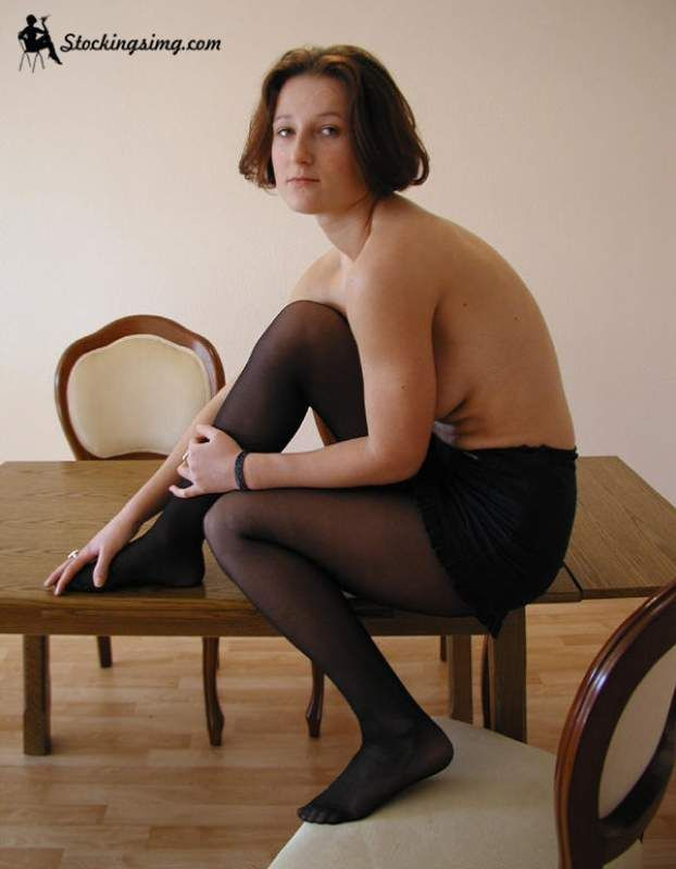 Amateur pantyhose poses
