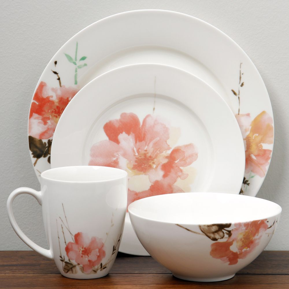 Oneida Amore 16-piece Dinnerware Set | Overstock.com Shopping - The Best Deals on Casual Dinnerware #casualdinnerware