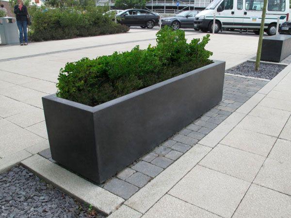 Blyth Grey Concrete Planter Concrete Planters Large Planters