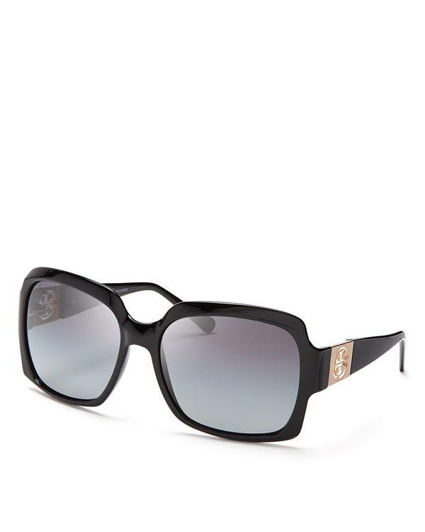 7eb2d3c22d057 Tory Burch Modern Square Logo Polarized Sunglasses Square Logo