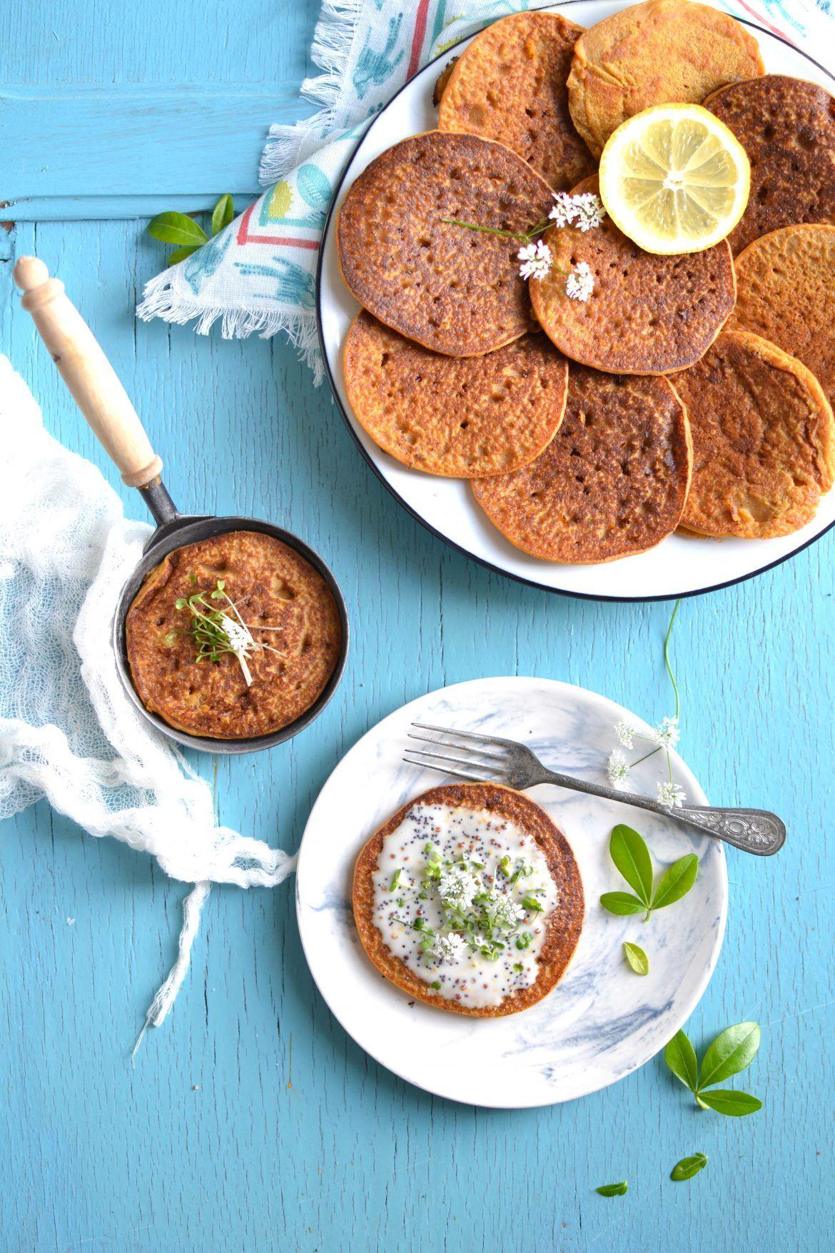Buckwheat and sweet potato blinis vegan and glutenfree