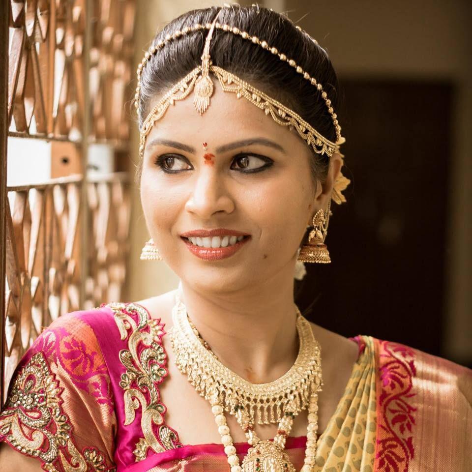   bridal saree makeup jewellery   South Indian brides   Pinterest