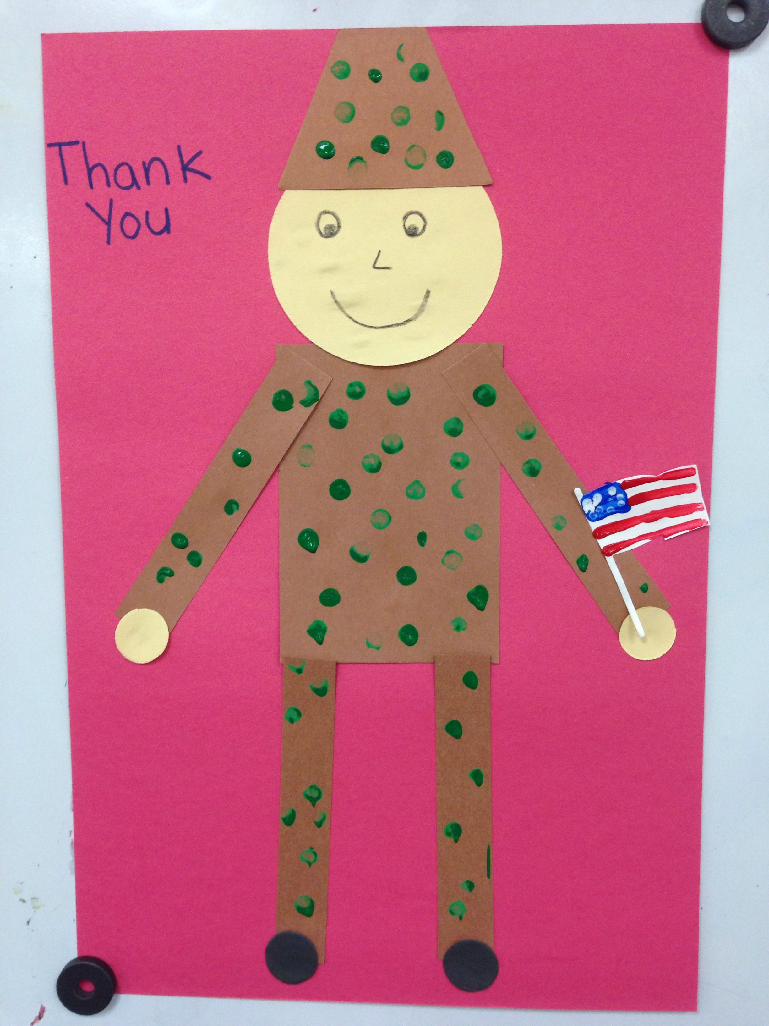 Veterans Day Pre K Craft Sol R