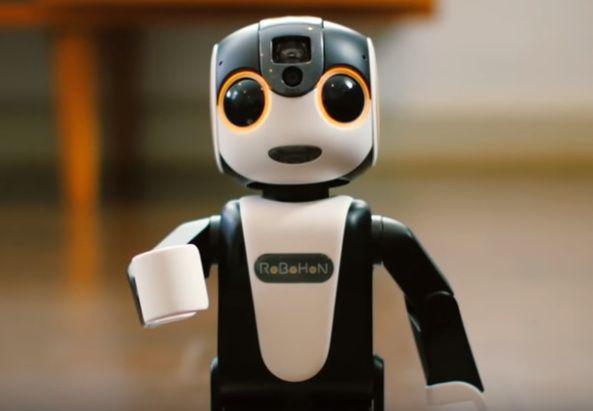 En #video RoboHoN un robot japonés que además es smartphone  Dispositivos robot smartphone video