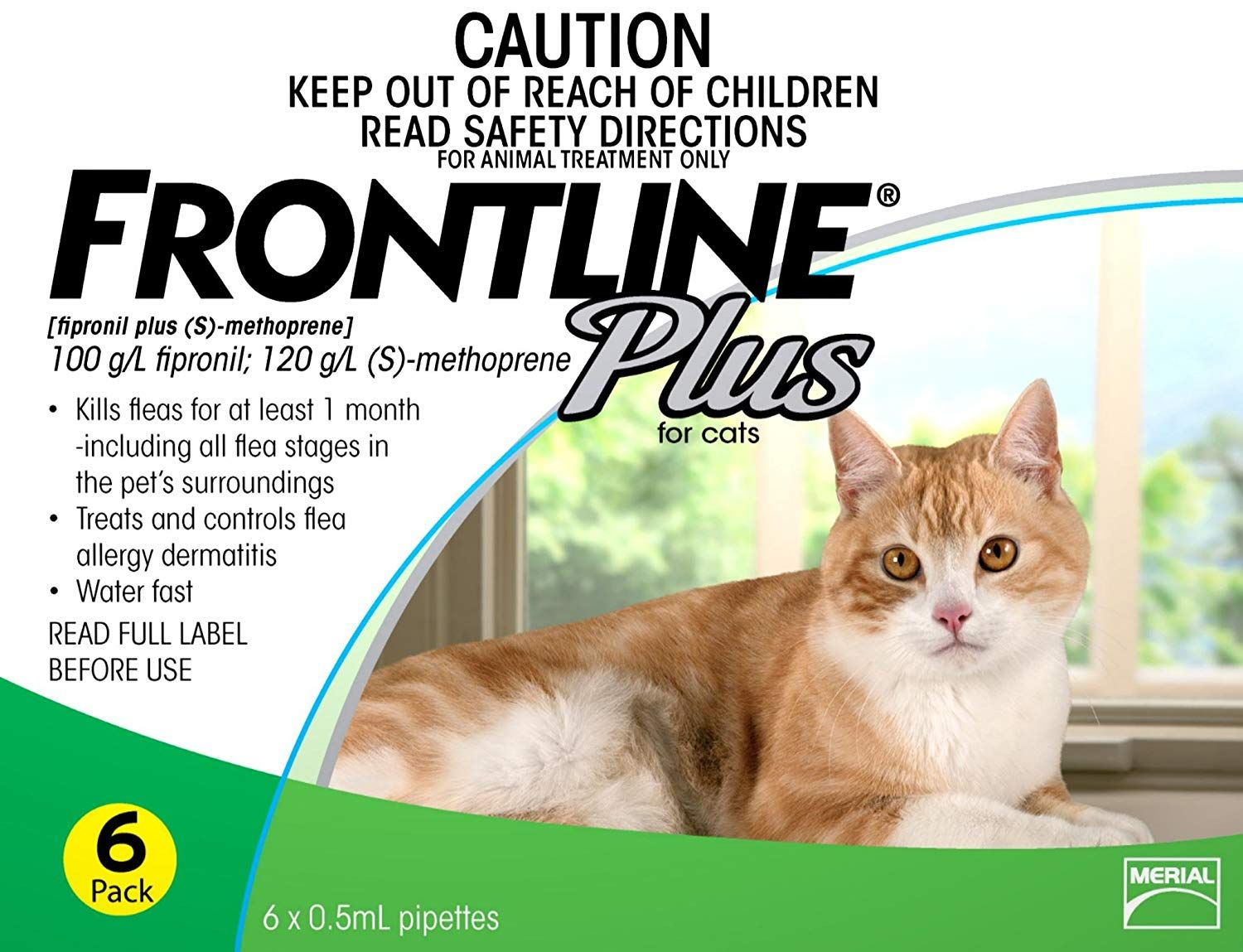 Merial Frontline Plus Flea And Tick Control For Cats And Kittens 6 Doses Prevents Control Kills R Cat Fleas Treatment Frontline Plus For Cats Cat Fleas