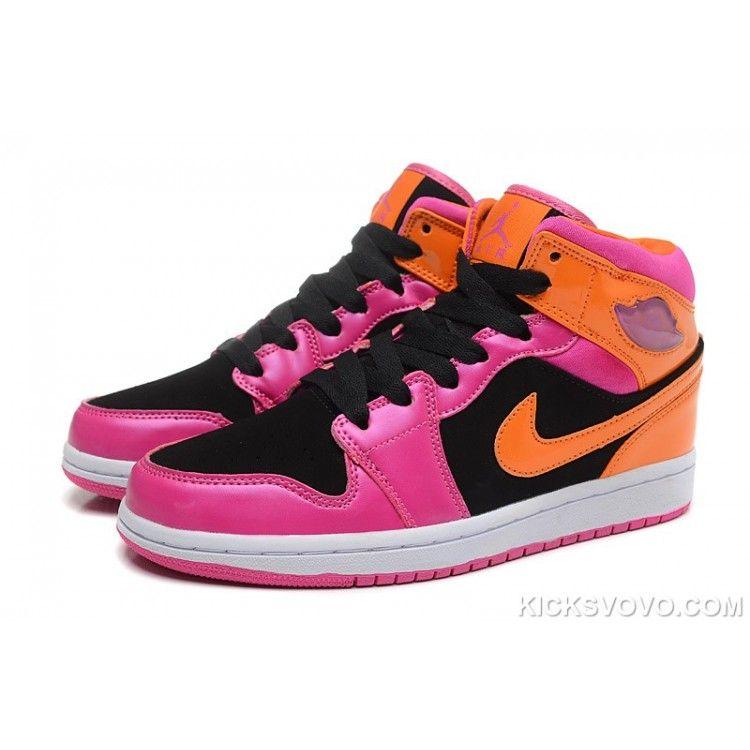 orange and pink jordans