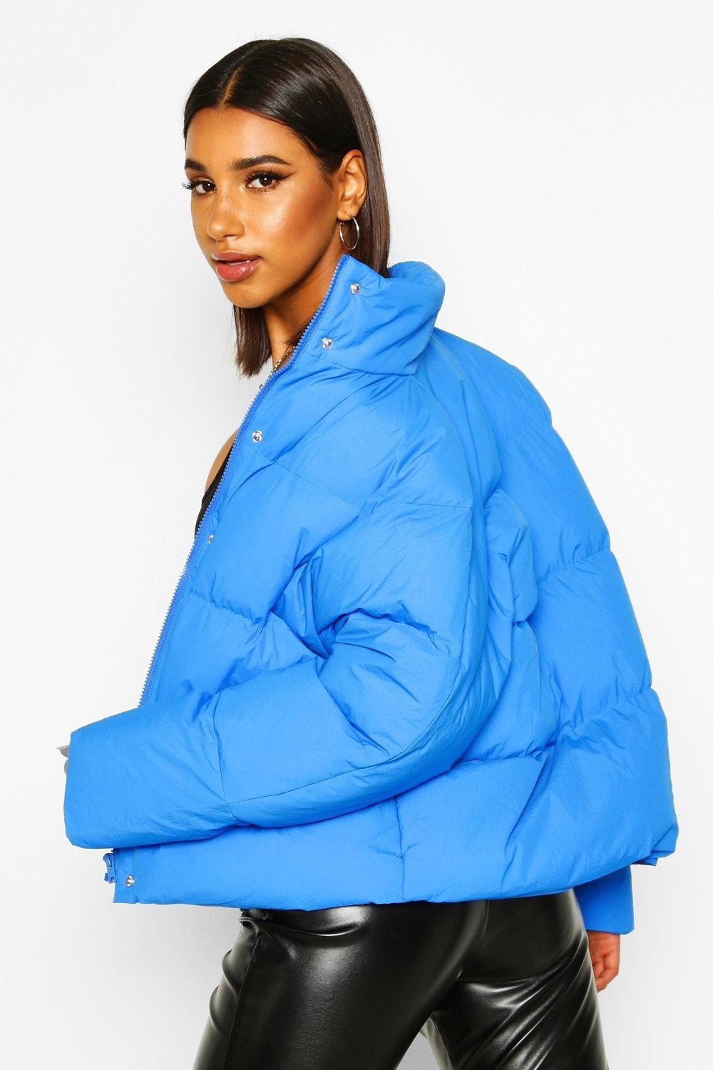 Funnel Neck Puffer Jacket With Pockets Boohoo Funnel Neck Puffer Jackets Latest Coats [ 1500 x 1000 Pixel ]