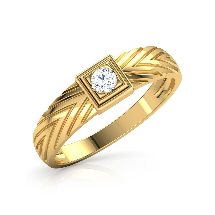 Josh Solitaire Ring For Men Jewellery India Online Mens Wedding Rings Gold Mens Gold Rings Men Diamond Ring