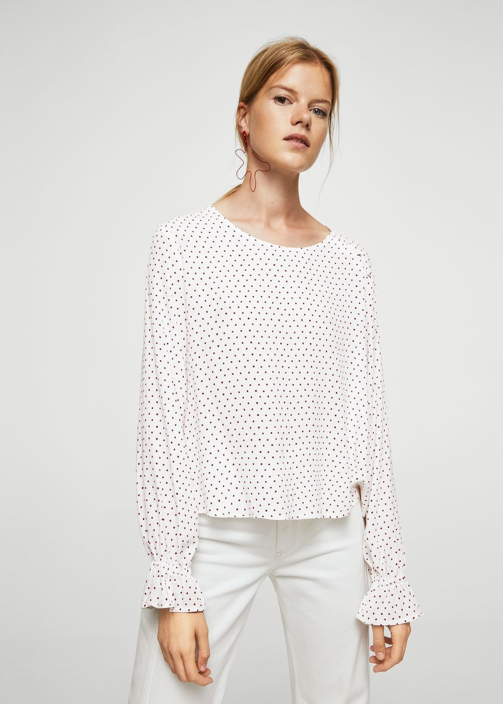 23500958ce733f Buttoned flowy blouse - Women | Colored Want To Wear | Shirt blouses ...