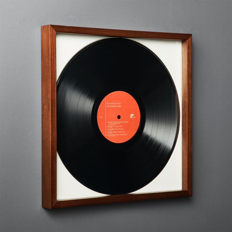 Gallery Walnut Record Frame With White Mat Reviews Cb2 In 2020 Framed Records Mirrored Picture Frames Picture Frame Gallery