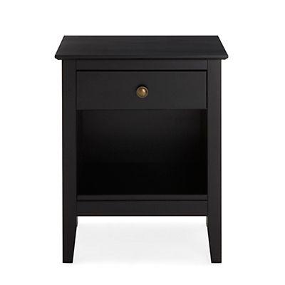 table de chevet noire 1 tiroir et 1 niche | id | pinterest