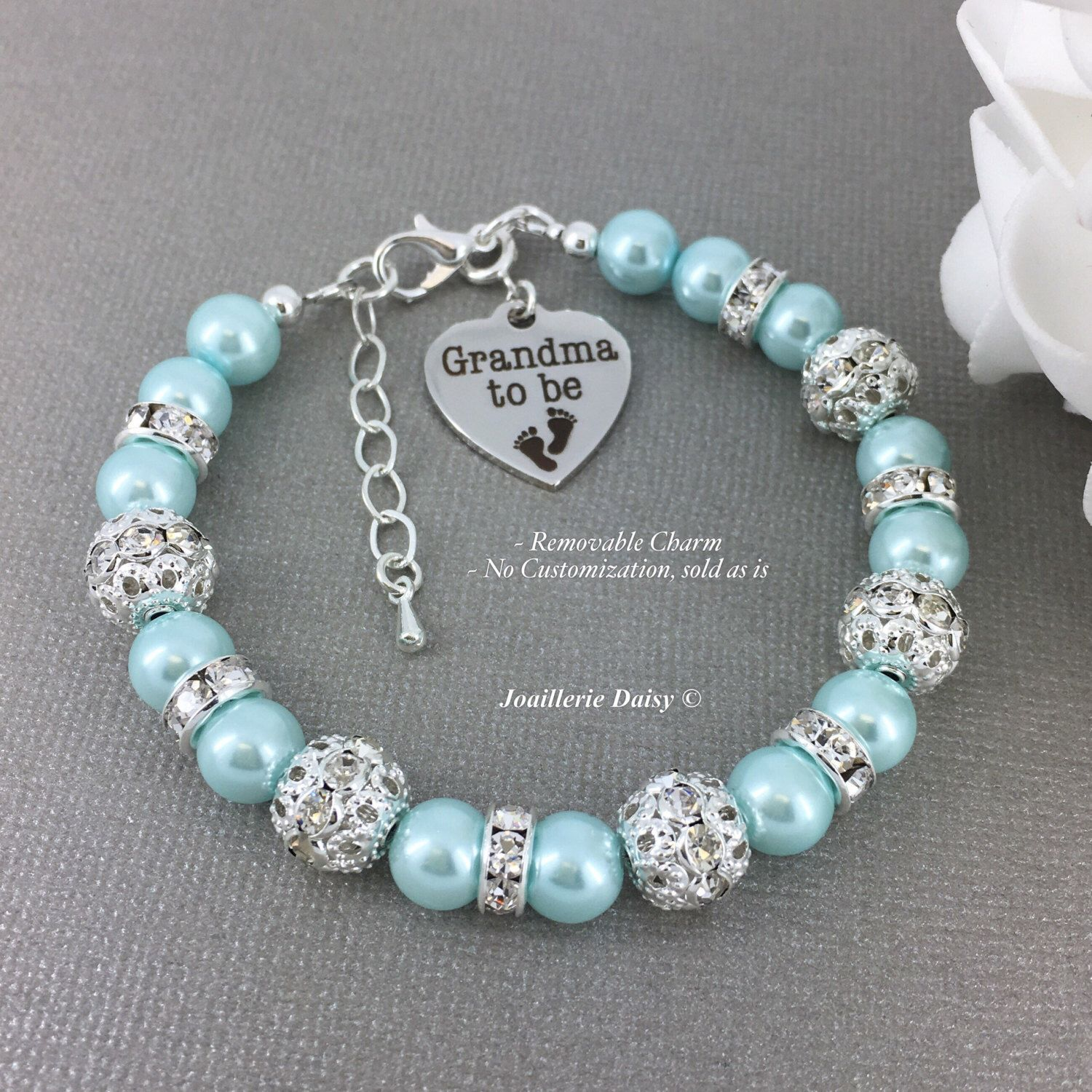 Grandma To Be Charm Bracelet Gift For Grandmother Surprise