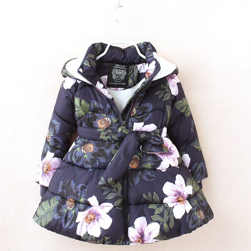 87a272acf winter jackets for girls kids fashion floral printed girls parka ...