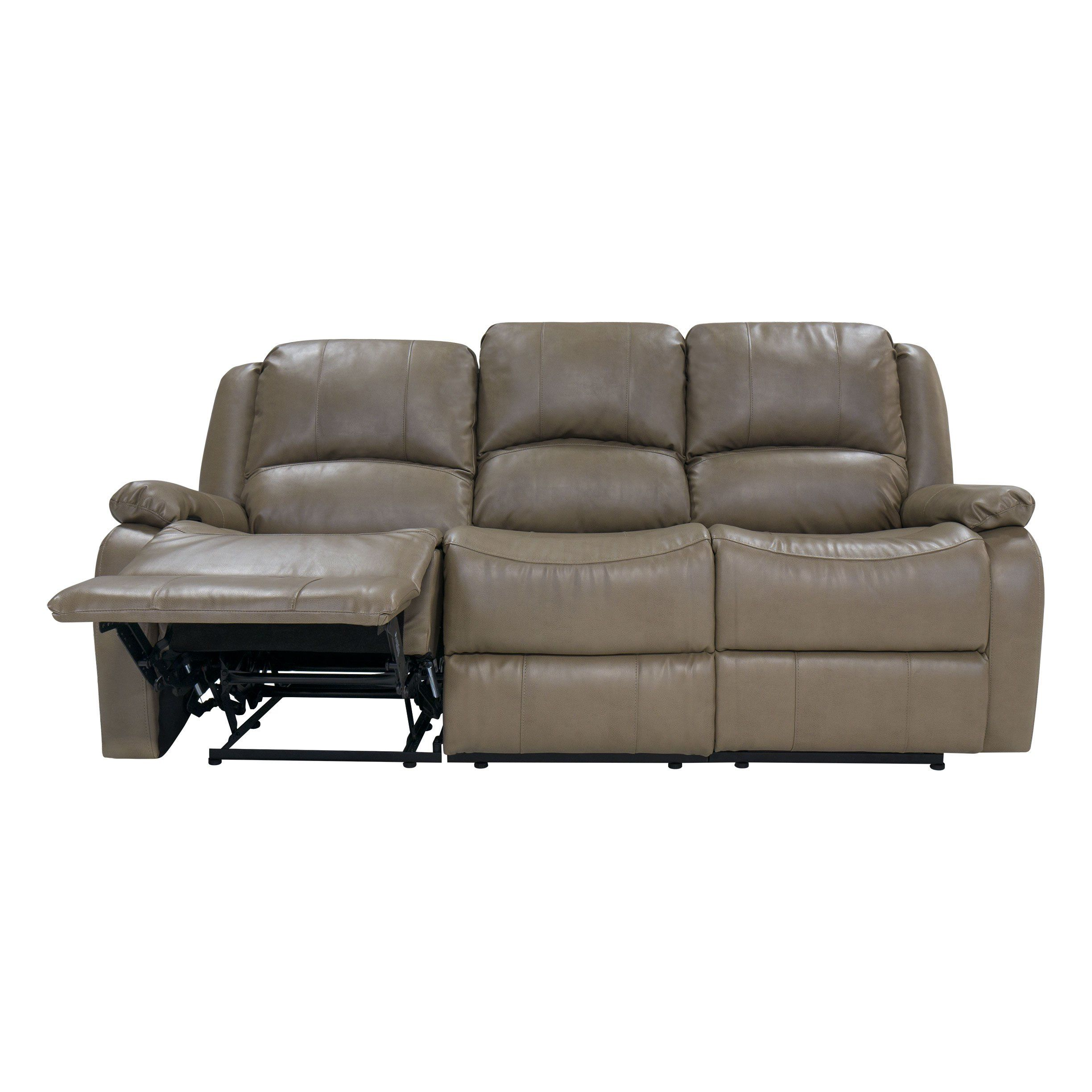 Charles Ashton Home Collection 80 Triple Recliner Sofa And Drop