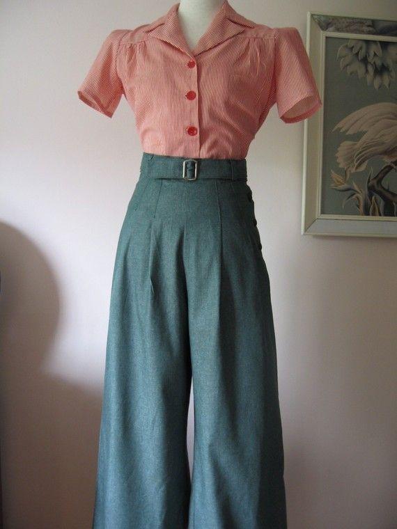 Photo of 1930 & # 39; s / 1940 & # 39; s Vintage Style Green Denim av allureoriginalstyle ~ Jeg trenger dette i …