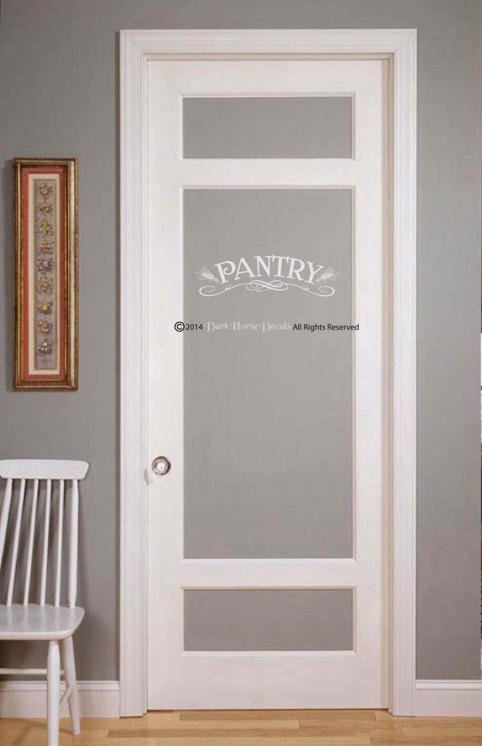 Pantry or Laundry Decal for Wall or Glass Door