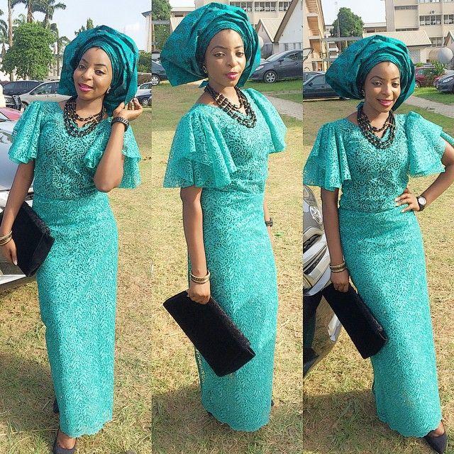 09966eb348e31b Iro and Buba Simple Lace Styles | anti p | Fashion, Nigerian lace ...