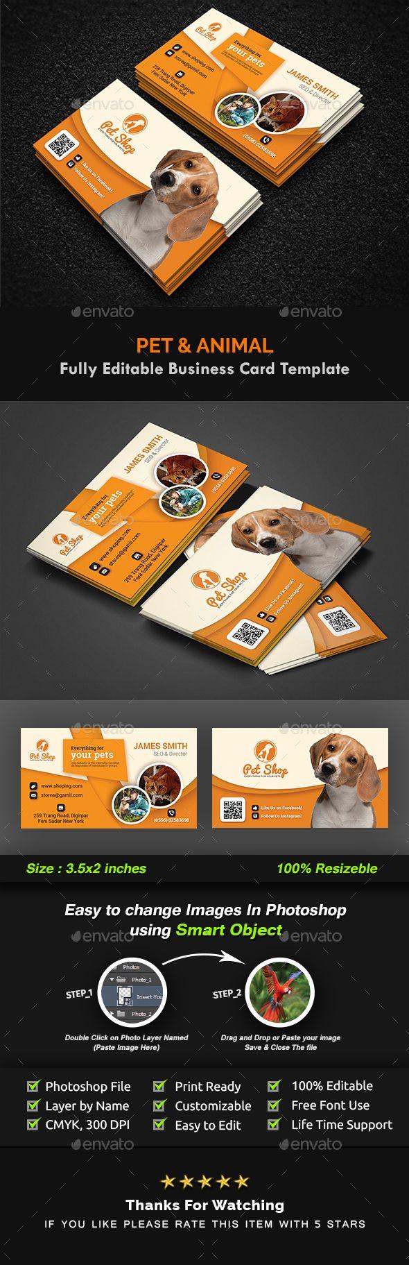 Pet Business Card | Animal Business Card Templates | Card templates ...