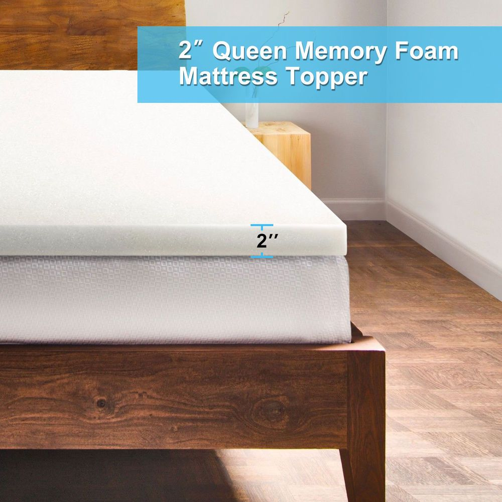 5 5 Comfortable 2 Queen Memory Foam Mattress Topper Bedroom