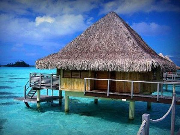 Bamboo Tiki Hut Over The Ocean I Would