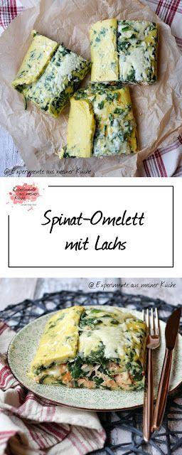 Spinat-Omelett mit Lachs #frühstückundbrunch
