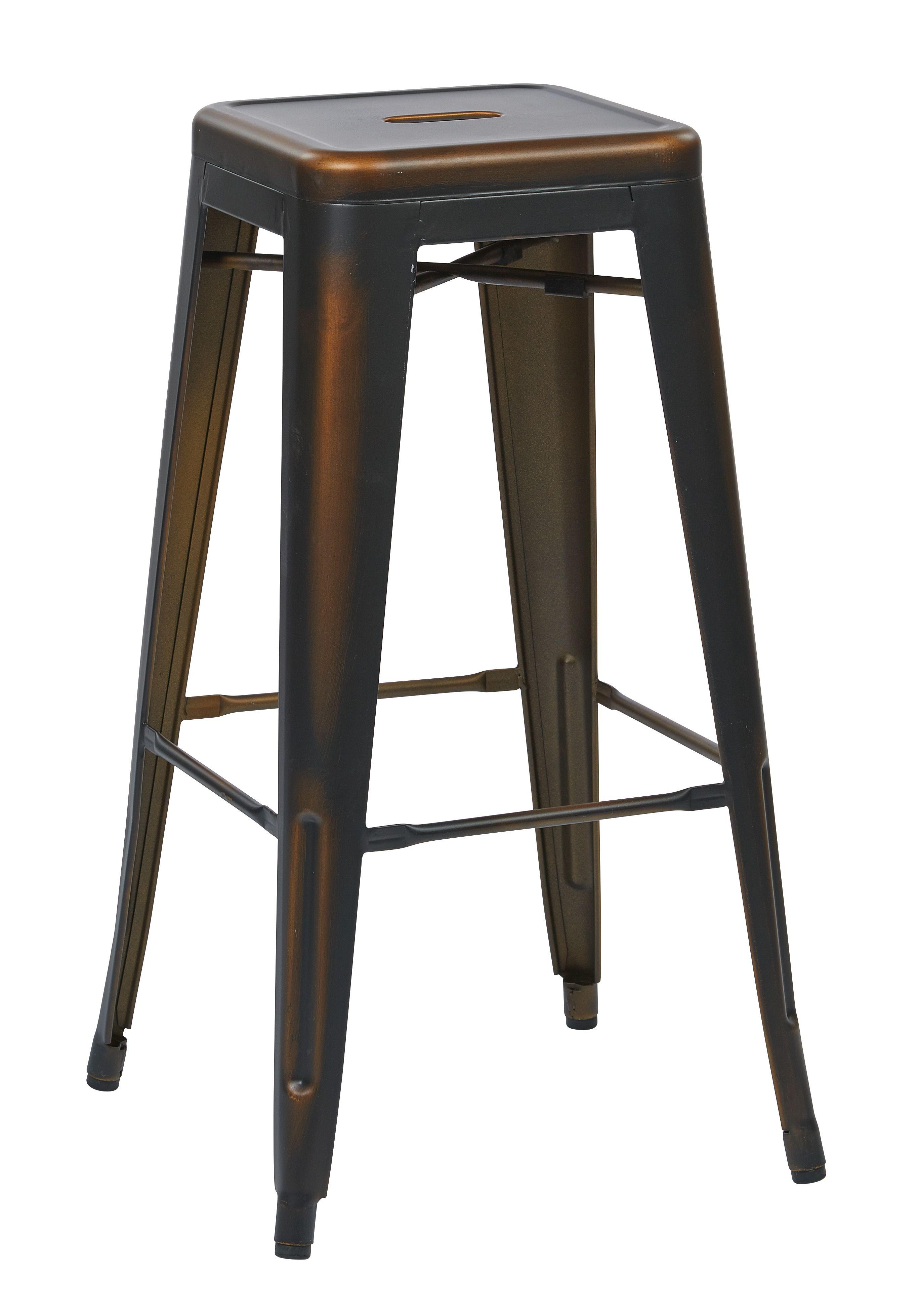Osp Designs Bristow 30 Antique Metal Barstool Antique