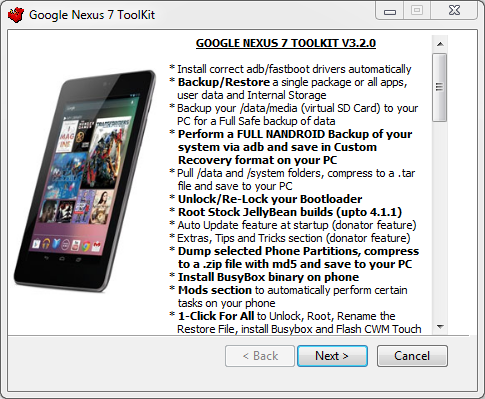 Google Nexus 7 TOOLKIT V3 2 0] Root Access \ xda-developers