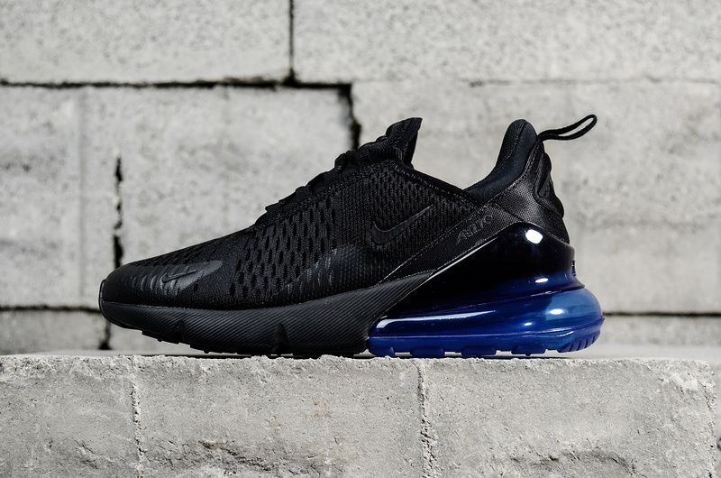 60566d8248a60 2018 Where To Buy Nike Air Max 270 Black Noir Photo Blue AH8050-009 Youth  Big Boys Shoes