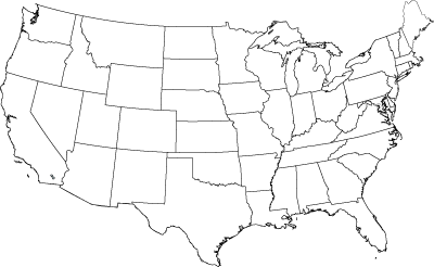 US map to print and color | Map outline, United states map ...