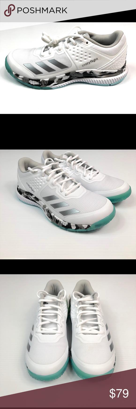 Adidas Crazyflight Volleyball Shoes Size 8 Womens Adidas Crazyflight Bounce Women S Volleyball Shoes White Size 8 By Volleyball Shoes Adidas Women Size 8 Women