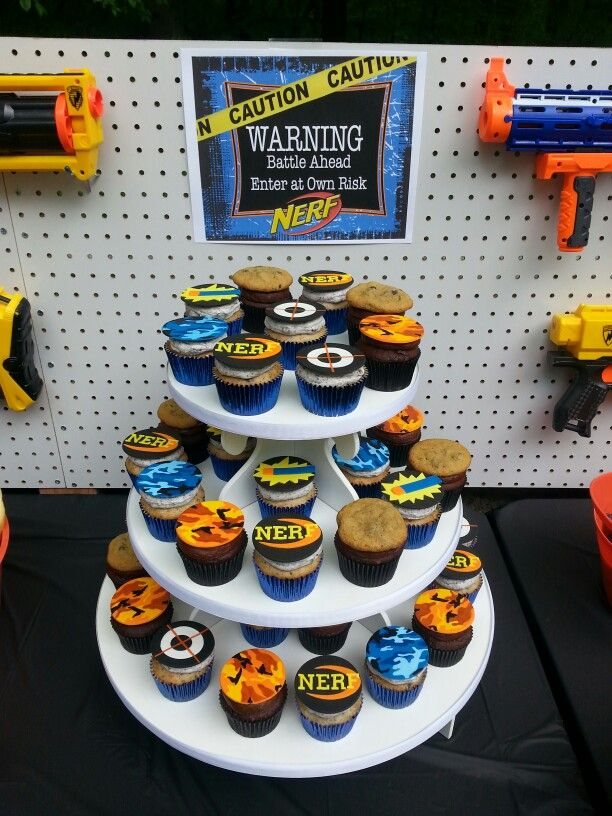 Nerf War Party Cupcakes