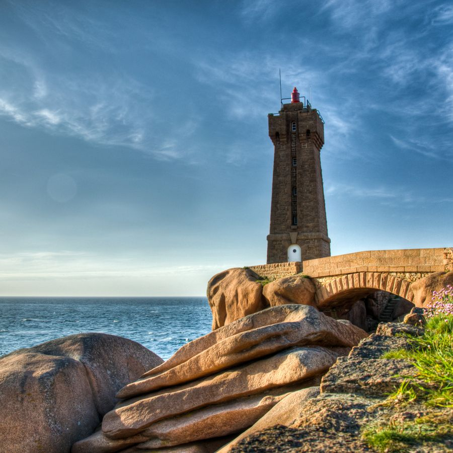 Cote De Granit Rose Located On A Stretch Of Coastline In The Cotes D Armor Departement Of Northern Brittany France Faro Vias