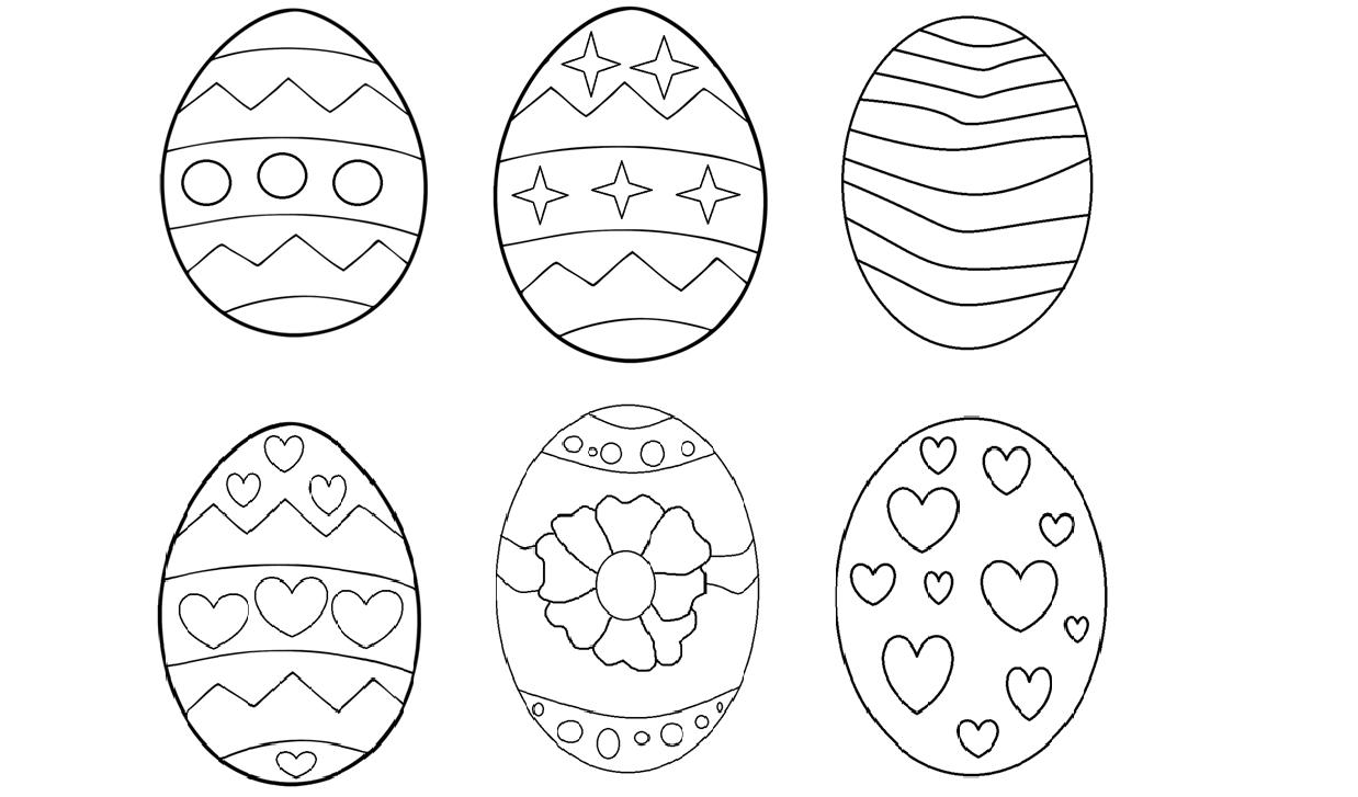 Pisanki Do Kolorowania I Wyklejania A4 Moje Dzieci Kreatywnie Easter Egg Designs Easter Colouring Easter Crafts