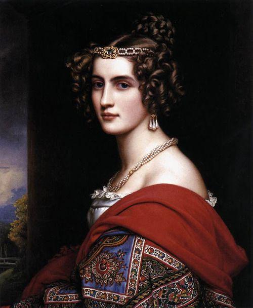 Amalie von Schintling, 1831, by Joseph Karl Stieler.