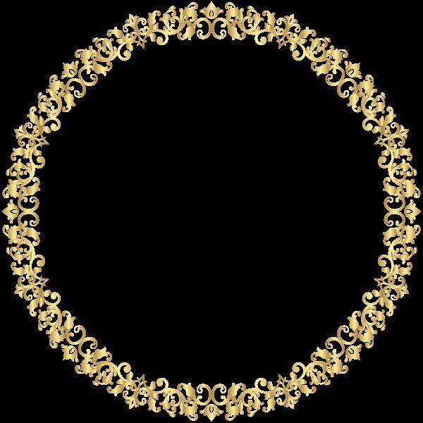 Round Border Frame Transparent Png Clip Art Clip Art Pattern Design Drawing Frame