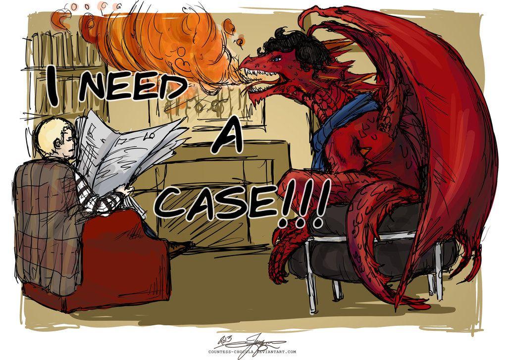 Even as a dragon, Sherlock hasn't changed...