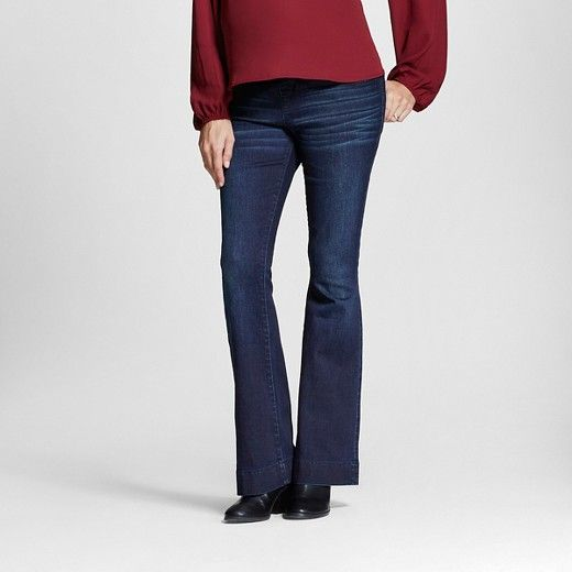 6a5637c3eb1f0 Maternity Over the Belly Dark Wash Flare Jeans - Liz Lange® for Target :  Target