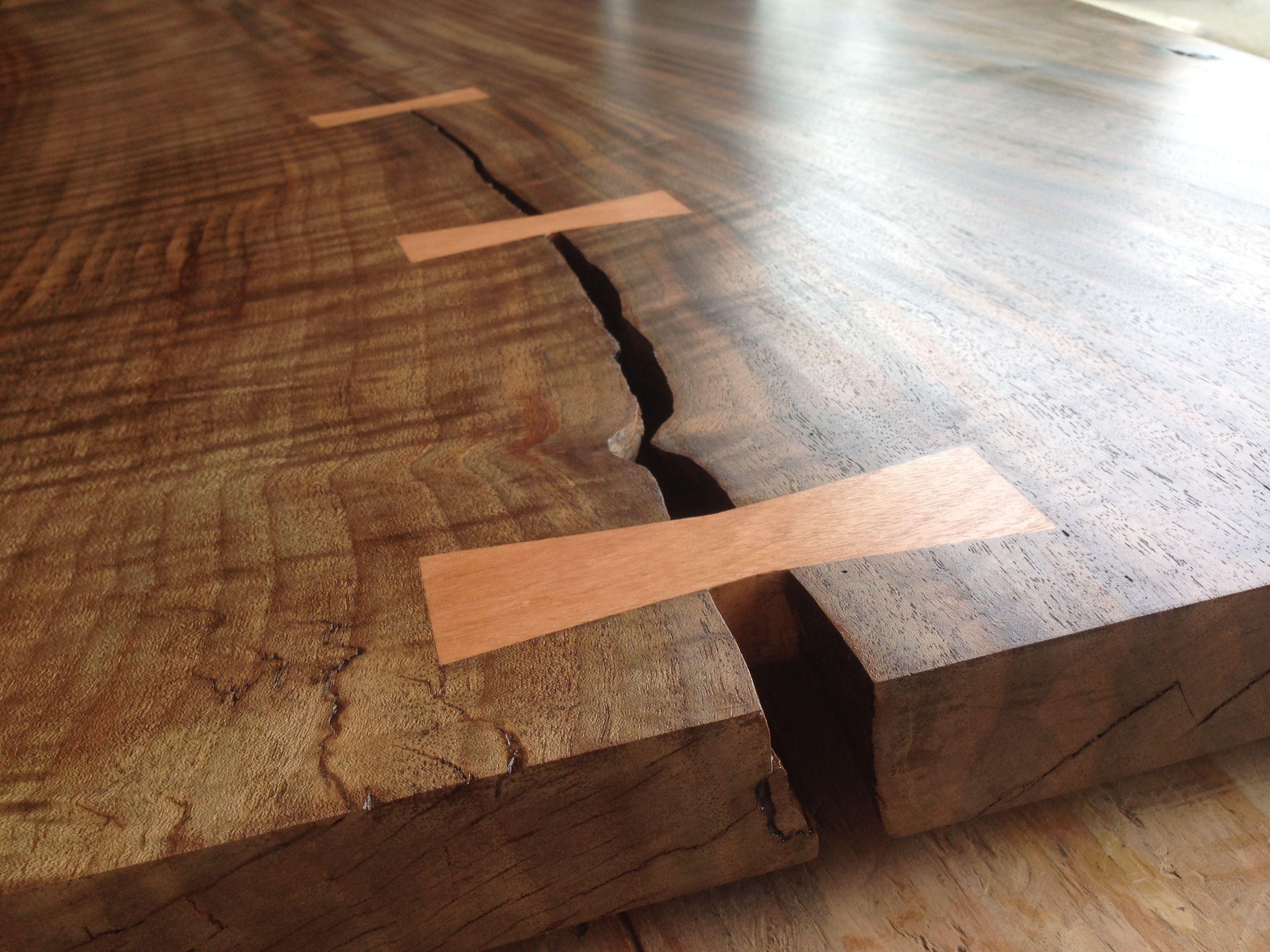 walnut wood coffee table, bowtie key detail. #coffeetable #wood