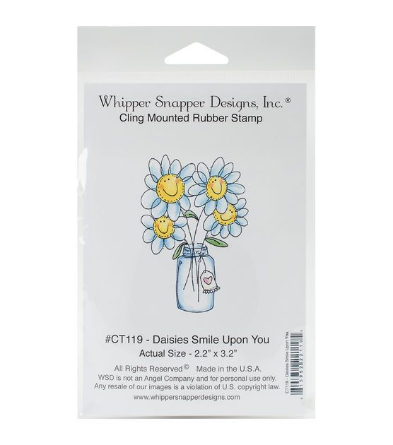 Whipper Snapper Designs Cling Stamp-Daisies Smile Upon You