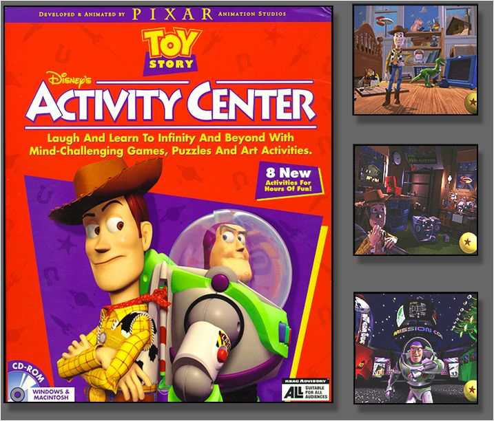 Toy Story Games : Game design for 'toy story activity center