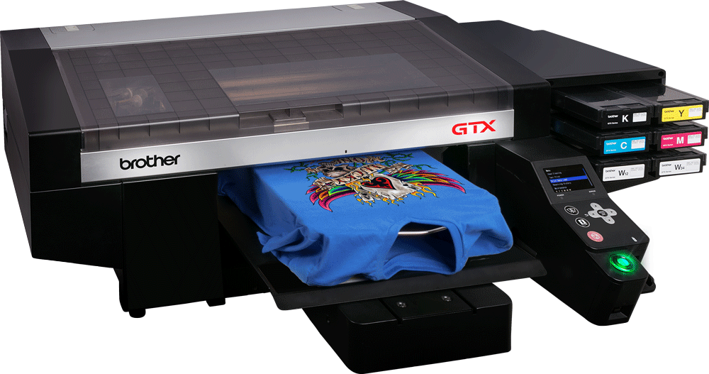 8f654525b The Brother GTX Direct to Garment Printer is the X factor for your garment  printing business. Accelerated Brother print heads are incredibly fast.