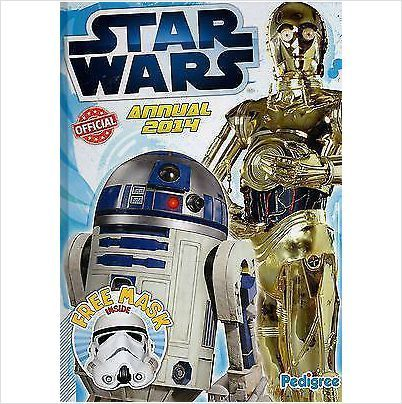 STAR WARS OFFICIAL 2014 ANNUAL WITH FREE STORM TROOPER MASK INSIDE BRAND NEW £4.75+FREE POSTAGE