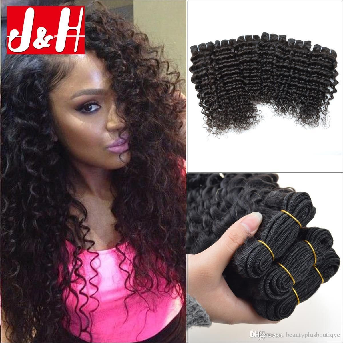 Grade 7a Brazilian Virgin Curly Hair Extensions Peruvian Hair