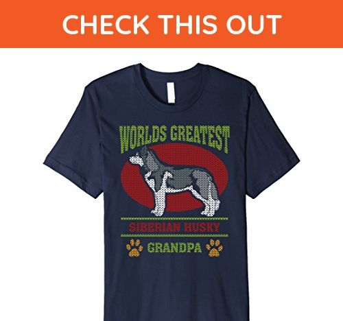 6d859b61 Mens Worlds Greatest Siberian Husky Grandpa T-shirt 2XL Navy - Relatives  and family shirts