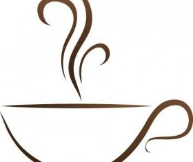 Cup with coffee abstract illustration vector 09