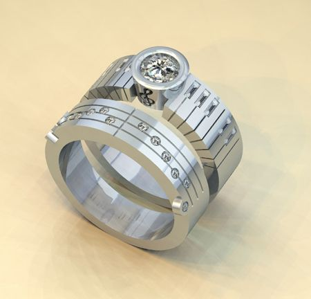 Wedding Piano Custom Made Jewelry Design Engagement Rings Customized Bands