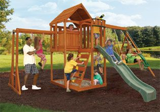 Trinity so wants one of these | Big backyard, Playground ...
